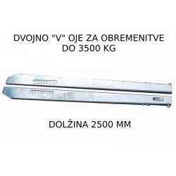 Dvojno V rudo, 2500 mm, 3500 kg