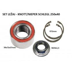 Ležaj set KNOTT - Nieper / Schlegel 39x72x37mm
