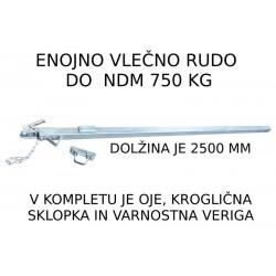 Kompletno enojno oje 2500 mm, NDM 750 kg