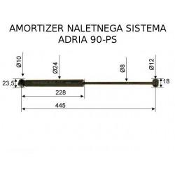ADRIA 90SP, amortizer naletnega sistema