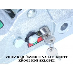 Ključavnica kroglične sklopke KNOTT K27-K35