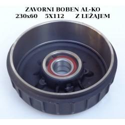 Zavorni boben ALKO, 230x60, 112x5