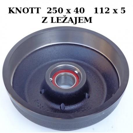 Zavorni boben Knott 250x40 112x5