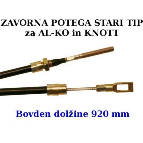 Zavorna potega STARI TIP 920 mm