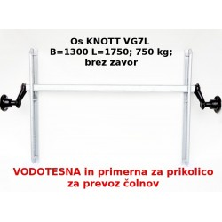 Aksa Knott 750 kg. brez zavor B1300 100x4 vodotes.lež.