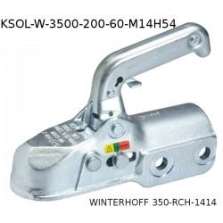 Kroglična sklopka Winterhoff 3500kg fi60 M14H54