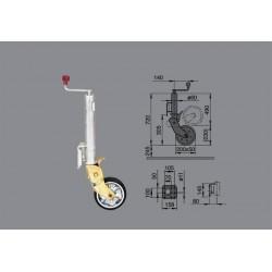 Avtomatsko podporno kolo AL-KO 500/300kg 200x50