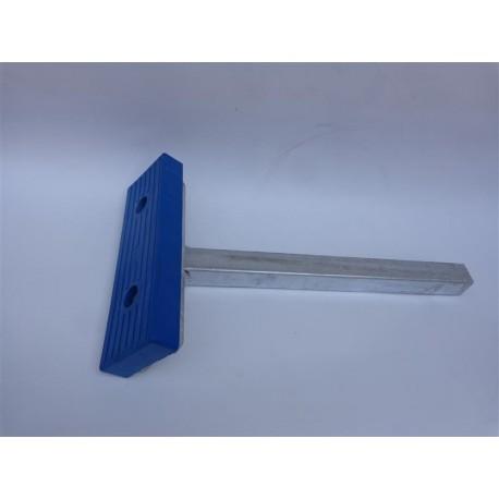 Gumijasta podpora za čoln 300x100x36 - modre barve (z nosilcem pocinkane izvedbe)