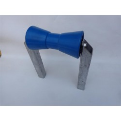 Dvoji modri sredinski valjček s kovinskim nosilcem (98x206xF21 mm)