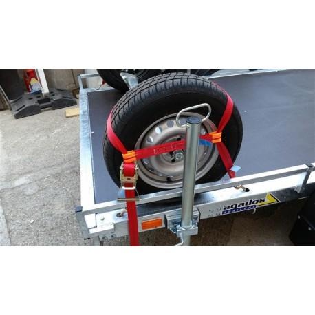 Trak za privezovanje avtomobilov 50mm, velikost koles do 21'