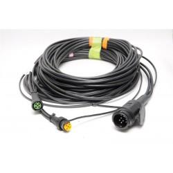 Priključni kabel 13 pol vtikač, dolžina 10m z izhodi 8,0m, Aspock