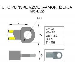 Uho plinskega amortizerja M6-L22