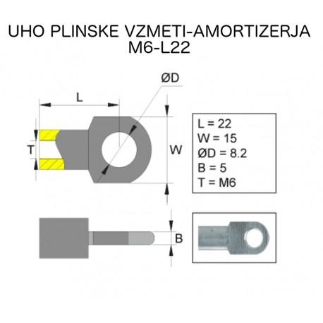 Uho plinskega amorticzerja M6-L22