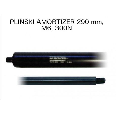 Plinski amortizer 290mm, M6, 300N