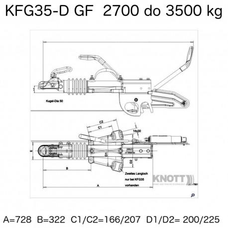 Knott KFG35-D GF Naletni Sistem 2700-3500kg