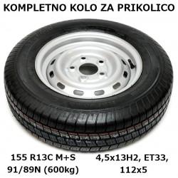 Kompletno kolo 112x5 155 R13C KargoMax za 600kg (M+S)
