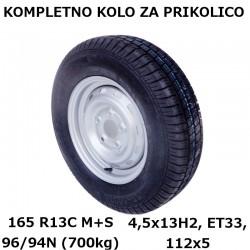 Kompl. kolo 112x5 165 R13C 96/94N (700 kg)