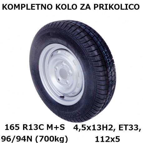 Kompletno kolo 112x5 165 R13C KargoMax za 700kg (M+S)