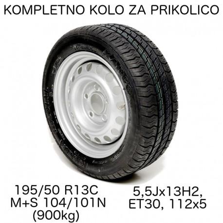 Kompletno kolo 112x5 195/50 R13C Kenda Radial (M+S) za 900kg