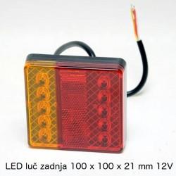 LED luč zadnja 100x100x21mm 12V