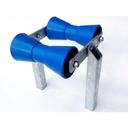 Dvojni modri sredinski valjček s kovinskim nosilcem (98x206xF21 mm)