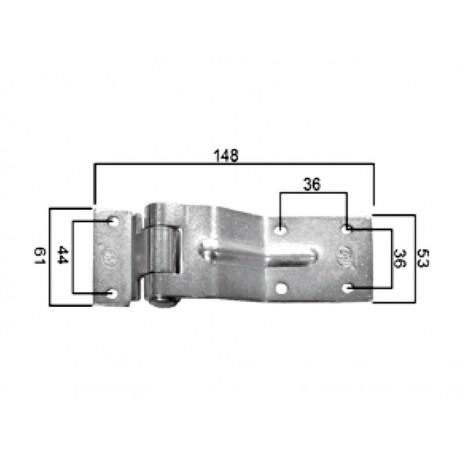 DV 148x61 držalo-tečaj-pant za kargo prikolico