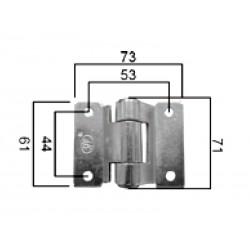 DV 73x61 držalo-tečaj-pant za kargo prikolico