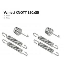 Komplet vzmeti za KNOTT 160x35