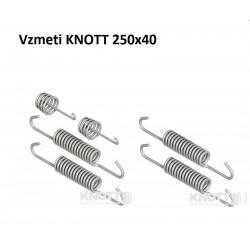Komplet vzmeti za KNOTT 250x40