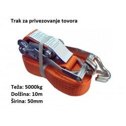 Trak za privezovanje tovora z napenjalcem in kavljem 5000kg, 10m