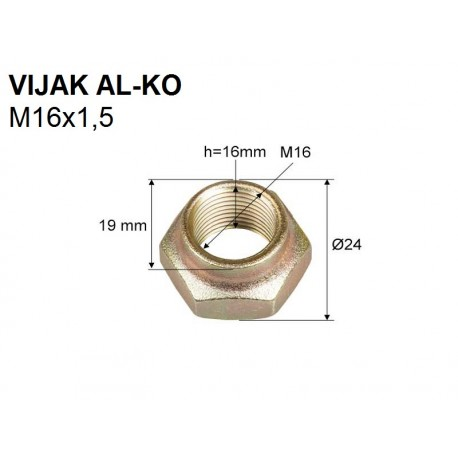 Vijak AL-KO M16x1,5