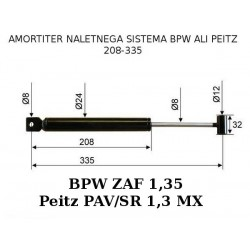 BPW-PEITZ 208-335, amortizer naletnega sistema