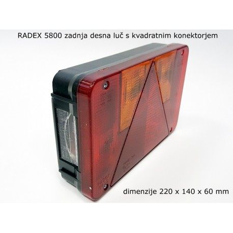 Radex 5800, luč zadnja desna-kvadratni konektor
