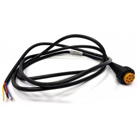 Priključni kabel 8-polni levi, dolžine 2m, Aspock (rumeni)