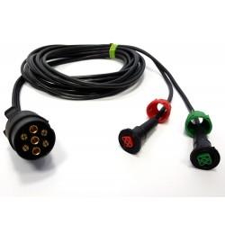 Priključni kabel 7 polni vtikač, dolžine X m, kvadrat-kon RADEX