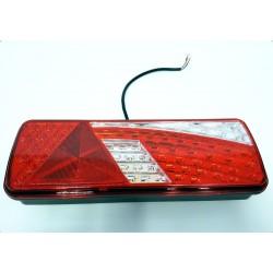 LED luč zadnja leva 420x150 mm, s trikotnim odsevnikom