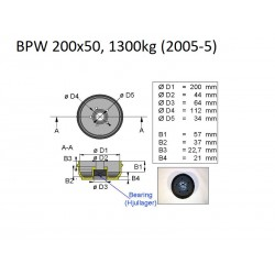 Zavorni boben BPW 200x50 112x5 S2005-5 (1300kg)
