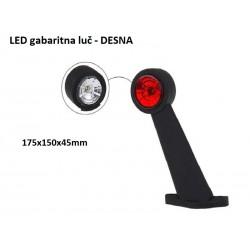 LED gabaritna luč 175x150x45 Desna