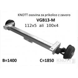 Aksa Knott 1350kg, z zavoro B1400 112x5