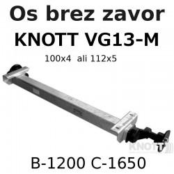 Aksa KNOTT 850-1350 kg. brez zavor
