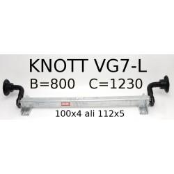 Aksa Knott 750kg brez zavor B800 100x4