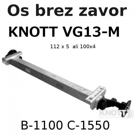 Aksa Knott do 1350kg brez zavor B1100 112x5 ali 100x4