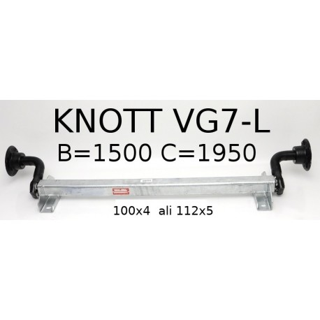 Aksa KNOTT 750 kg. brez zavor 100x4 ali 112x5