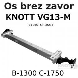 Aksa Knott do 1350kg brez zavor B1300 112x5 ali 100X4