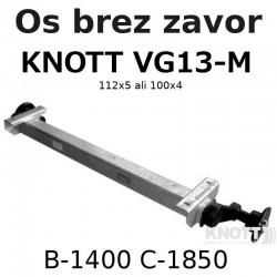 Aksa KNOTT 850-1350 kg. brez zavor 112x5 ali 100x4