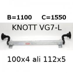 Os-Aksa 750 kg. brez zavor B1100 100x4 ali 112x5