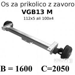 Aksa KNOTT 850-1350 kg, z zavoro 112x5 ali 100x4