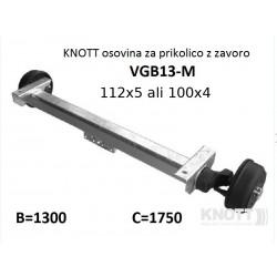 Aksa Knott 1350kg z zavoro B1300 112x5 ali 100x4