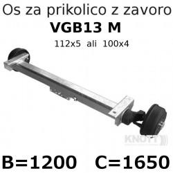 Aksa Knott 1350kg z zavoro B1200 112x5 ali 100x4