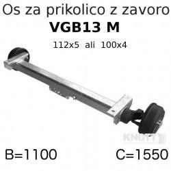 Aksa KNOTT 850-1350 kg, z zavoro